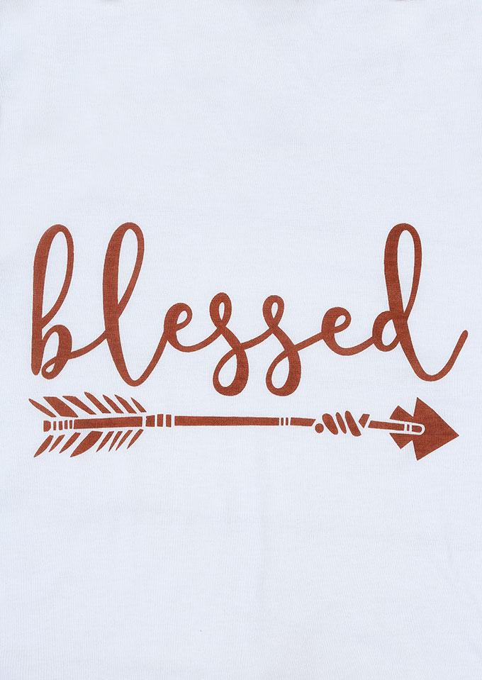 Blessed Arrow O Neck Baseball T Shirt Fairyseason