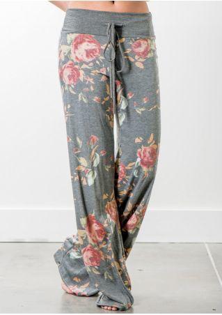 Floral Loose Wide Leg Pants