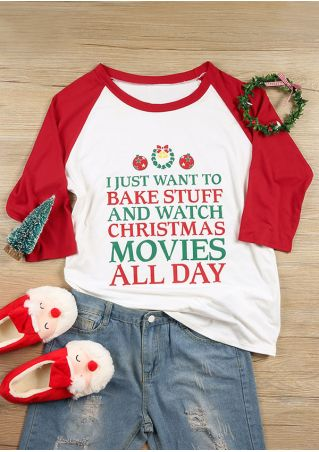 Christmas Plus Size Watch Christmas Movies Baseball T-Shirt
