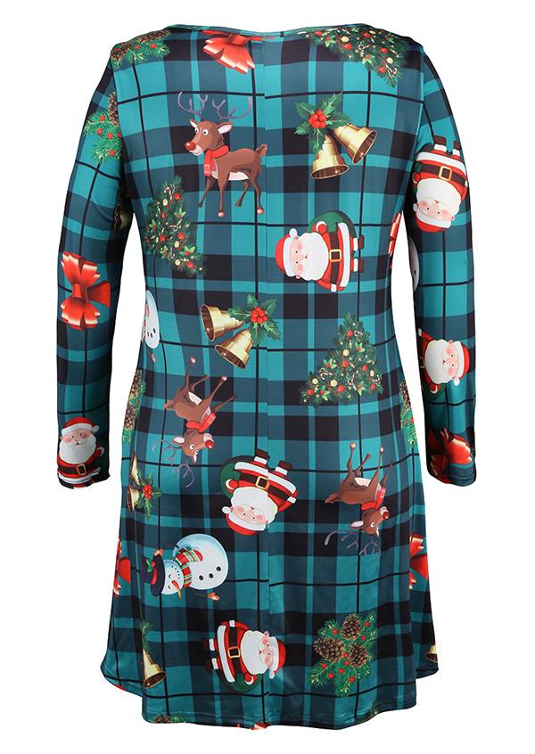 Christmas plus size santa claus reindeer snowman casual