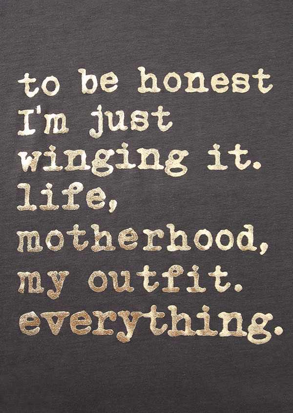 Just Winging It Life Motherhood T Shirt Fairyseason
