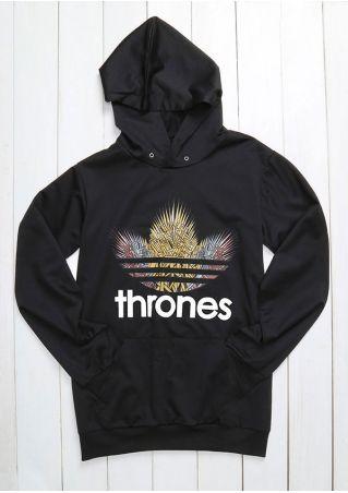 Thrones Pocket Long Sleeve Hoodie