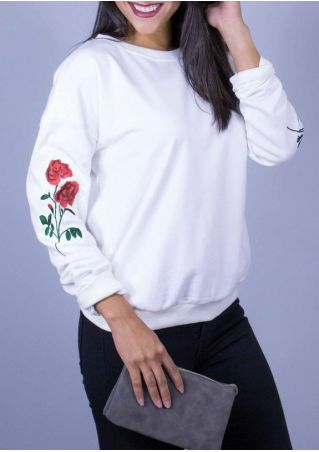 Floral O-Neck Long Sleeve Sweatshirt