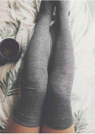 Solid Soft Long Socks