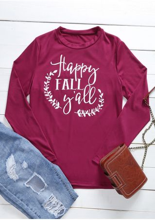 Happy Fall Y'all O-Neck Long Sleeve T-Shirt