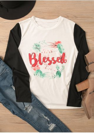 Blessed Floral O-Neck Long Sleeve T-Shirt