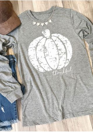 Thankful Pumpkin Long Sleeve T-Shirt