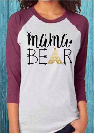 Mama Bear O-Neck Baseball T-Shirt