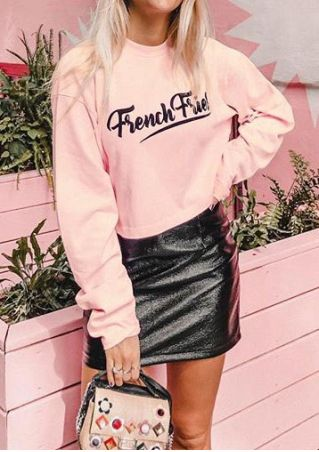 French Fries Long Sleeve Sweatshirt