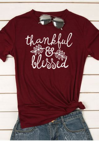 Thankful & Blessed Leaf O-Neck T-Shirt