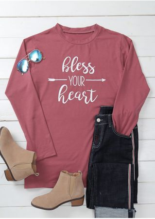 Plus Size Bless Your Heart O-Neck T-Shirt