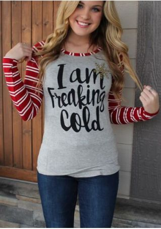 I Am Freaking Cold Striped Baseball T-Shirt