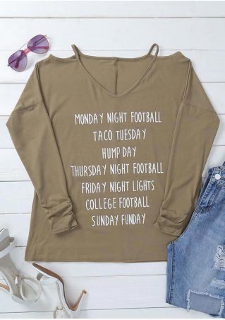 Monday Night Football Hollow Out T-Shirt