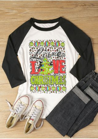 Live Love Christmas O-Neck Baseball T-Shirt