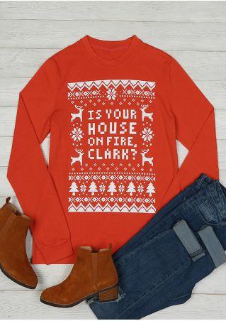 Christmas Reindeer Snowflake O-Neck T-Shirt