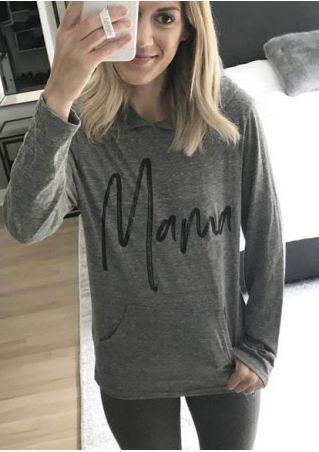 Mama Pocket Long Sleeve Hoodie