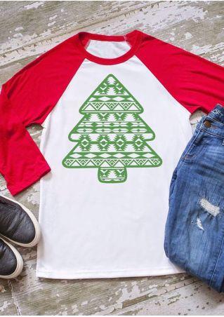 Christmas Tree O-Neck Baseball T-Shirt
