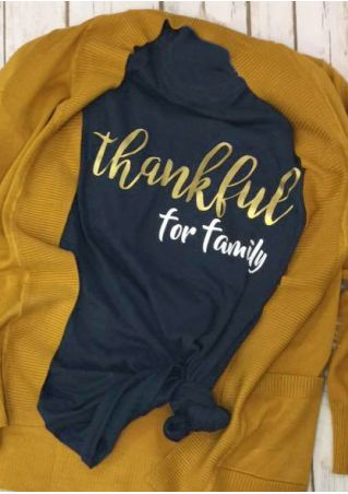 Thankful For Family O-Neck T-Shirt