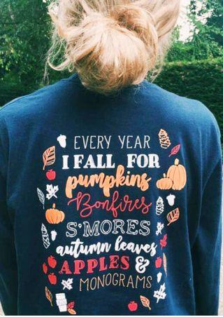I Fall For Pumpkins Bonfires O-Neck T-Shirt