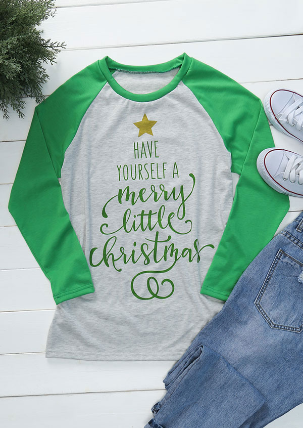 Do It Yourself Christmas Shirts.Have Yourself A Merry Little Christmas Baseball T Shirt