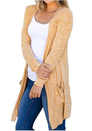 Knitted Long Sleeve Pocket Cardigan