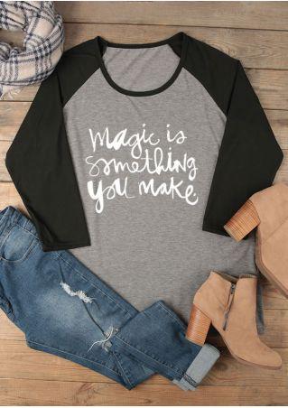Plus Size Magic Is Something You Make Baseball T-Shirt
