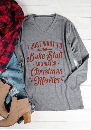 Plus Size Bake Stuff And Watch Christmas Movies T-Shirt