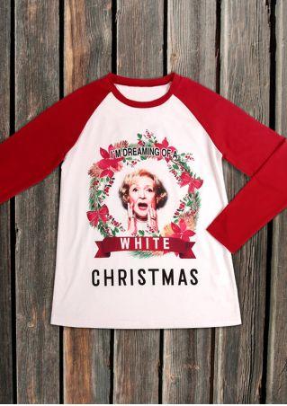 I'm Dreaming Of A White Christmas Baseball T-Shirt