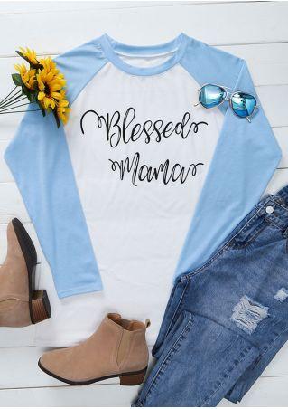 Blessed Mama O-Neck Baseball T-Shirt