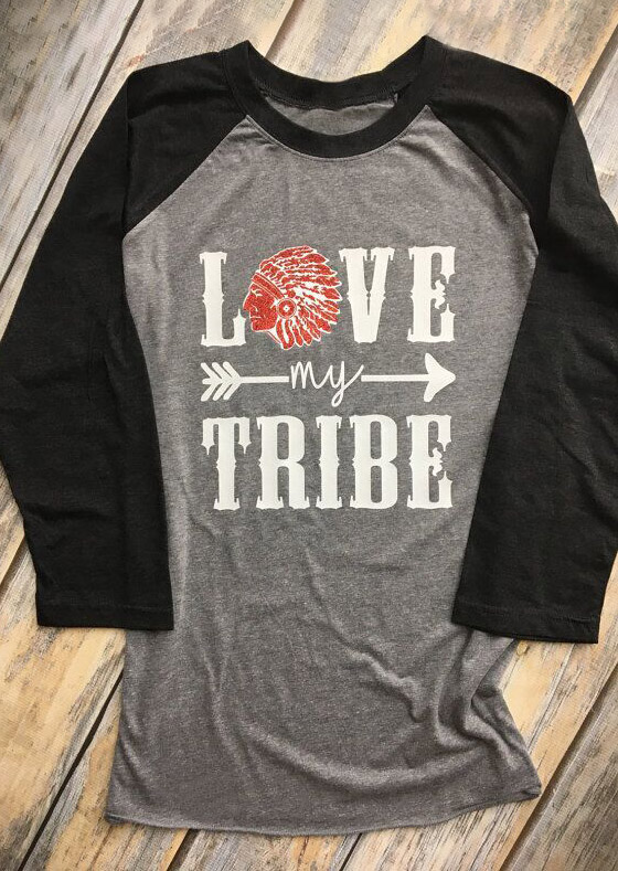 Love My Tribe Arrow Baseball T Shirt Fairyseason