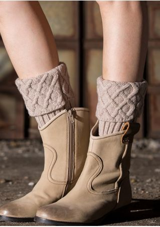 Solid Warm Knitted Boot Cuffs