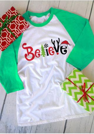 Christmas Believe O-Neck Baseball T-Shirt