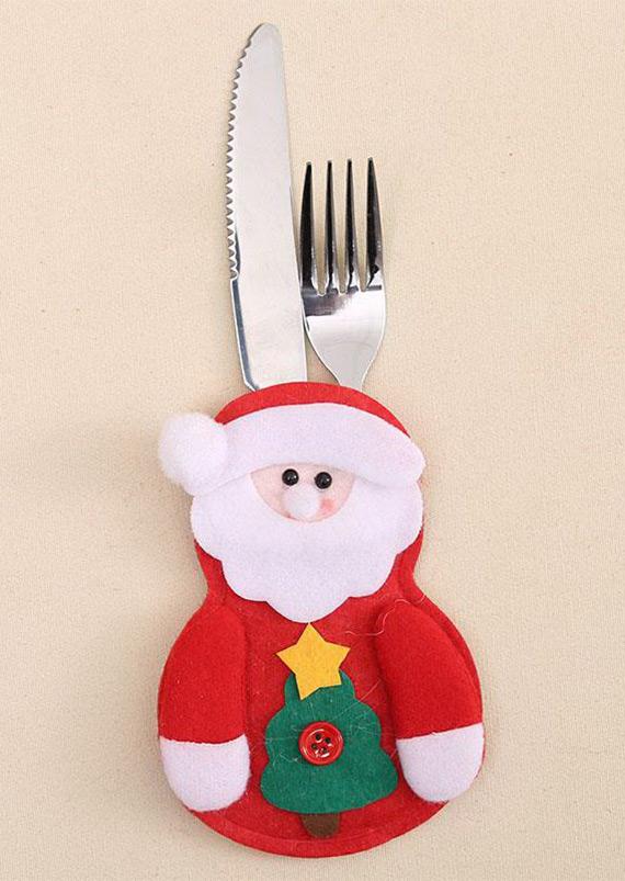 Christmas Tableware Holder Pocket