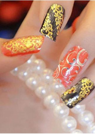 108Pcs/Set 3D Flower Nail Stickers Decals
