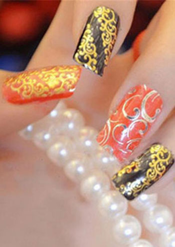 Image of 108Pcs/Set 3D Flower Nail Stickers Decals