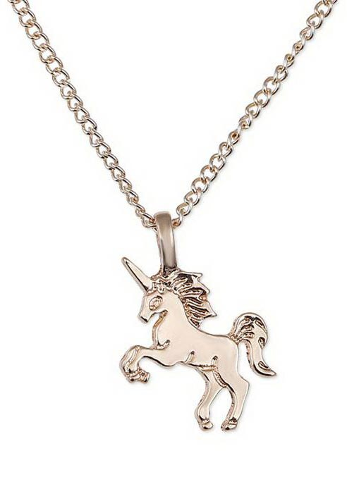 Unicorn horse pendant chain necklace fairyseason for Bulk jewelry chain canada