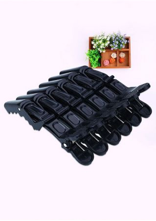 6 Pcs Alligator Mouth Shaped Styling Hair Clip