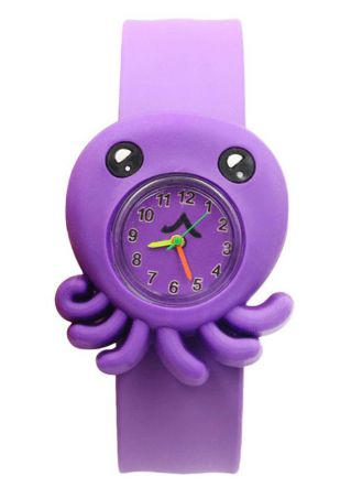Children Slap Snap On Silicone Quartz Cartoon Wrist Watch