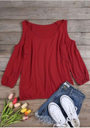 Solid Off Shoulder Blouse