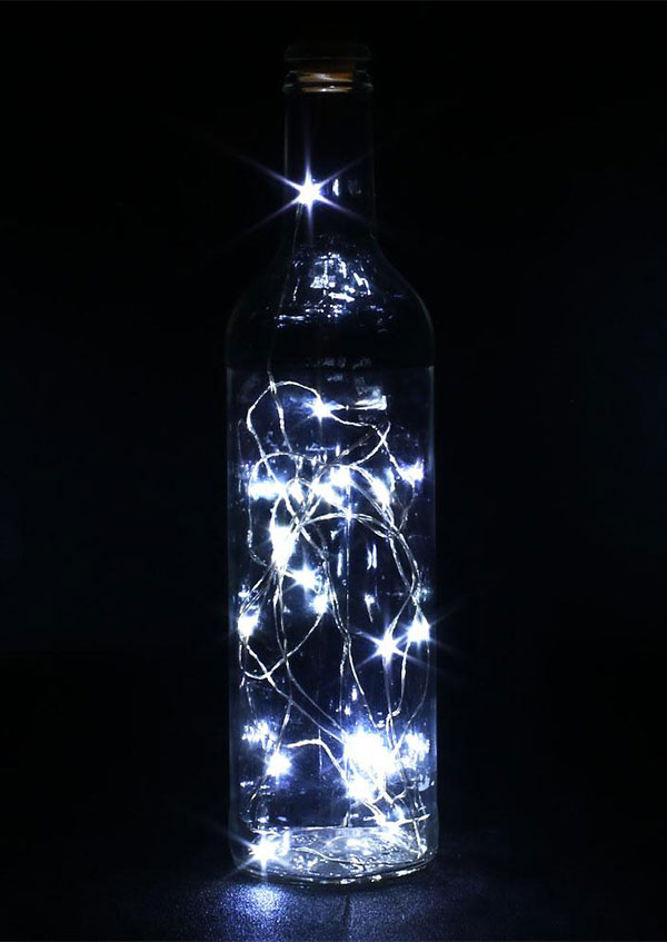 Image of 20 LED Bottle Stopper Light Strings Copper Wire Lamp