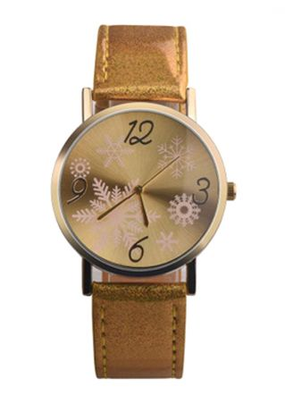 Christmas Snowflake Leather Strap Band Watches