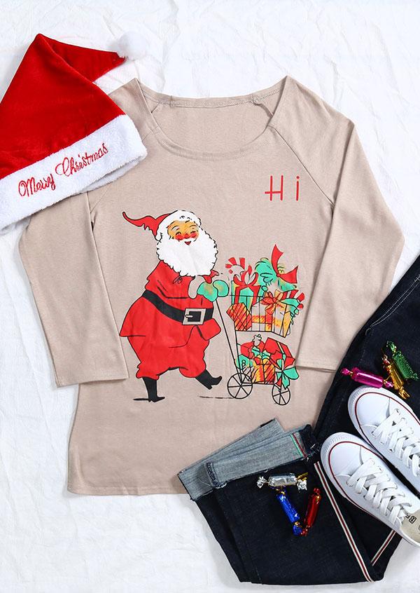 Christmas hi santa gift t shirt fairyseason for Hawaii souvenir t shirts