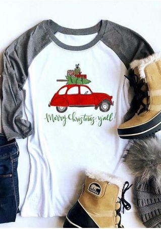 Merry Christmas Y'all Baseball T-Shirt