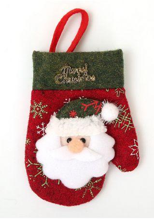 Christmas Glove Style Cutlery Holder Pocket