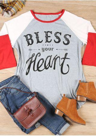 Plus Size Bless Your Heart Baseball T-Shirt