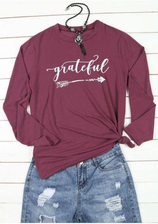 Plus Size Grateful Arrow O-Neck T-Shirt