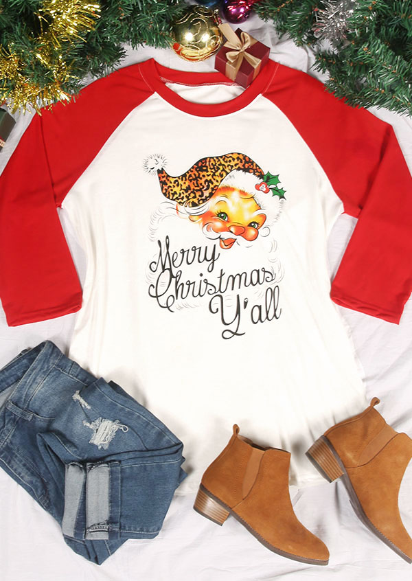 Plus Size Merry Christmas Y All Baseball T Shirt Fairyseason