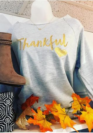 Thankful Heart Long Sleeve Sweatshirt