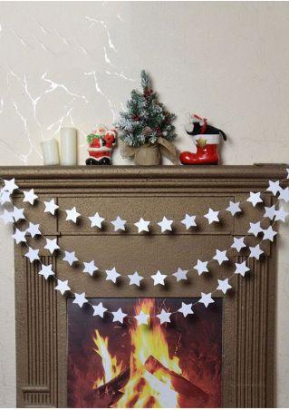 4M Christmas Mirror-Paper Star String Garland Hanging Ornament