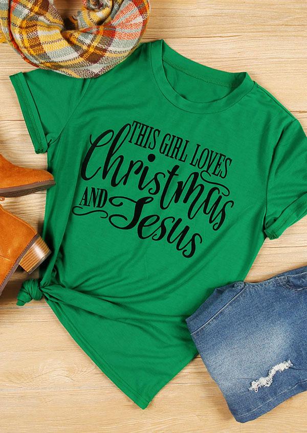 This Girl Loves Christmas And Jesus T Shirt Fairyseason